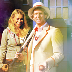 Rose Tyler with the Fifth Doctor