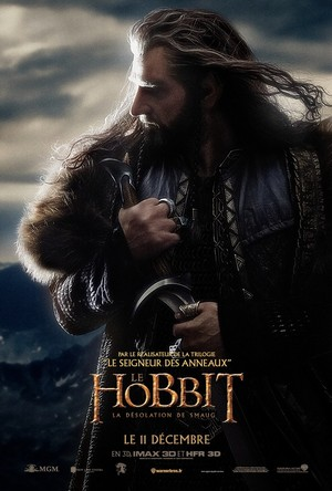 The Hobbit: The Desolation of Smaug French Poster - Thorin