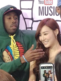 Tiffany at the Youtube muziek Awards. ft Tyler the Creator