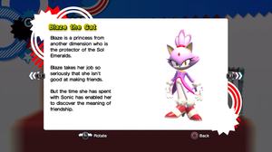 Blaze's Profile from Sonic Generations