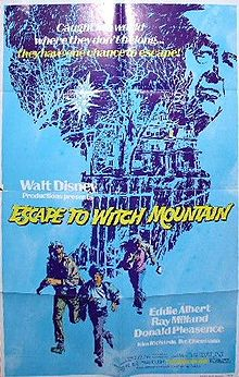 "Movie Poster Of 1975 Disney Film, ""Escape To Witch Mountain"""