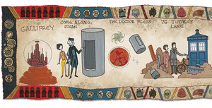 The History of DOCTOR WHO Illustrated Bayeux Tapestry