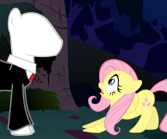 Fluttershy and Slender Mane