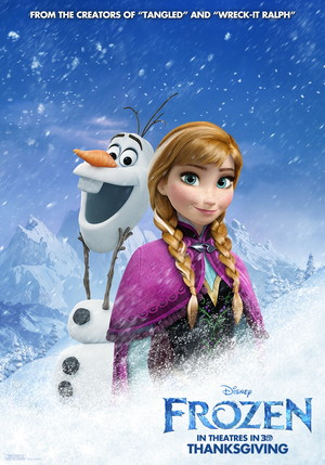 La Reine des Neiges Poster - Olaf and Anna