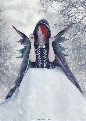 Ice angel In The Snow