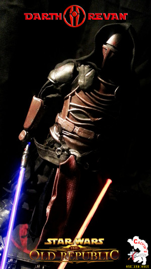 Calvin's Custom One Sixth Starwars the old republic DARTH REVAN figure