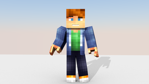 Sugarbean Minecraft Blender Render Wallpaper
