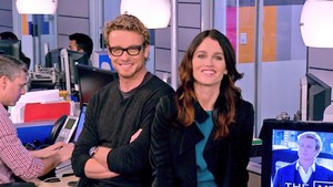 Robin Tunney and Simon Baker at OMGInsider, 21st November 2013