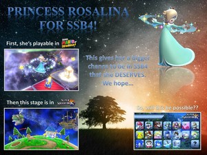 Princess Rosalina On Super Smash Bros. 4 I hope?