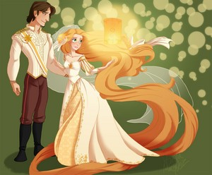 rapunzel and eugene wedding