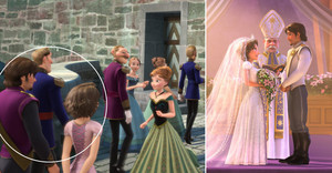 Rapunzel and Eugene in Frozen!!