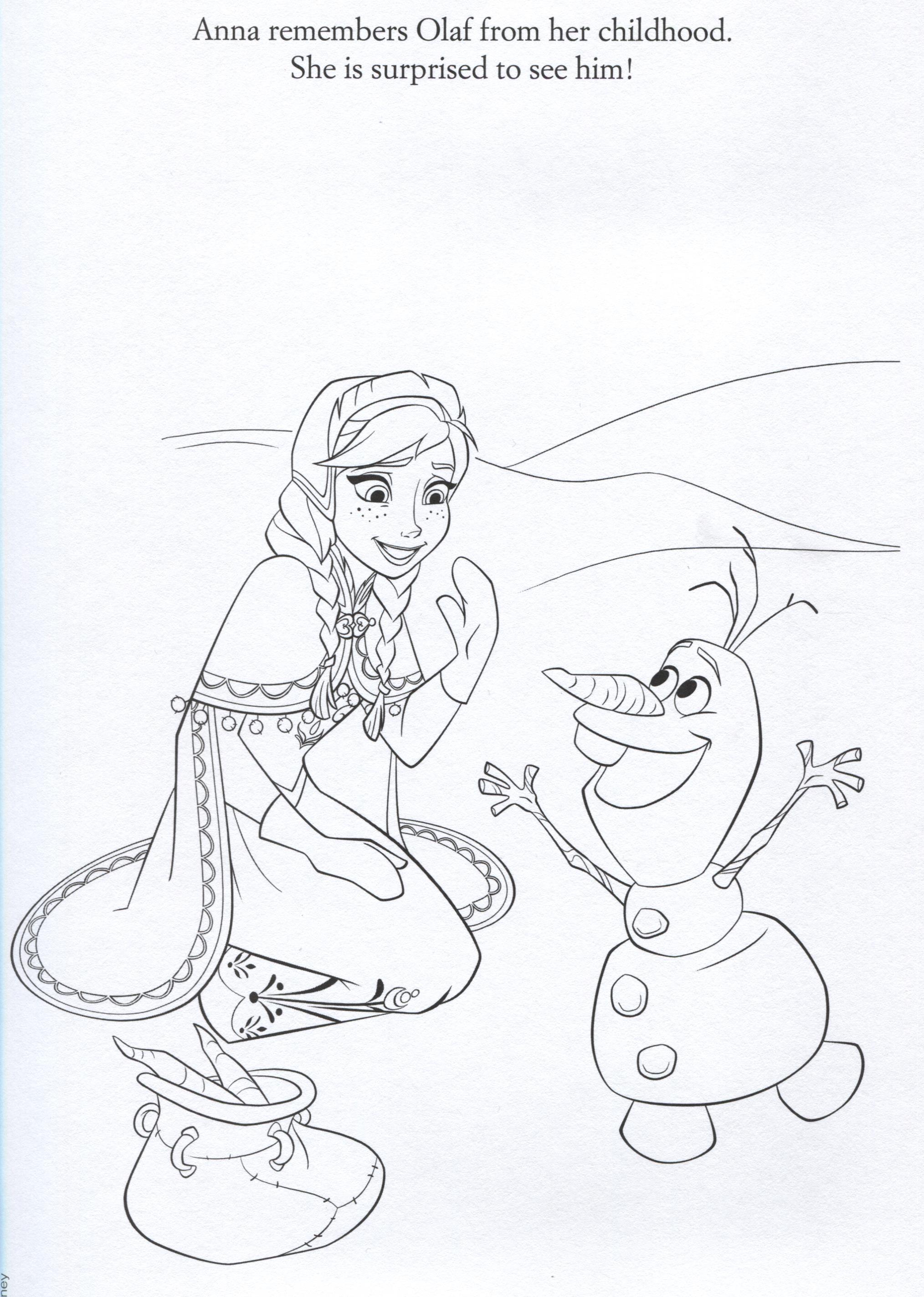 Official Frozen Illustrations Coloring Pages Frozen Foto