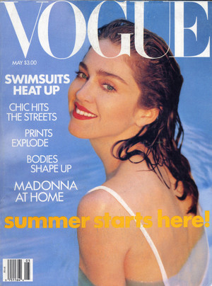 "On the cover of ""Vogue"" 1989"