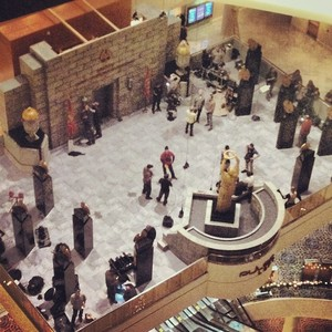 Mockingjay Set تصاویر from the Marriott Marquis in Atlanta 12.14.13