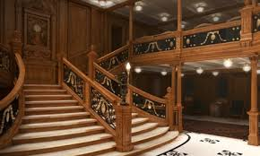 first class staircase with tigress