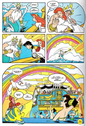 Walt ディズニー Movie Comics - The Little Mermaid (English Version)