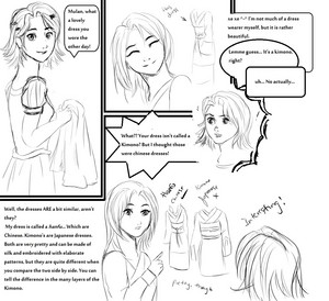 My Disney comic - Mulan and Rapunzel