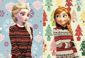 Elsa and Anna on a Sweater