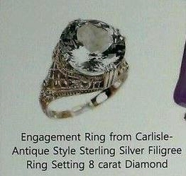 Engagement ring from Carlisle to Esme. ♥