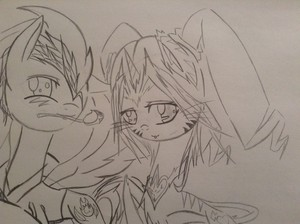 My OC Lightning heart with her Date Fire Blaze