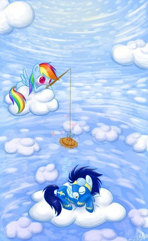 Rainbow Dash and Soarin'
