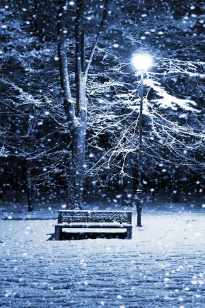 Snowy night iphone wallpaper