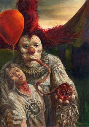 Scary culo clown iphone wallpaper