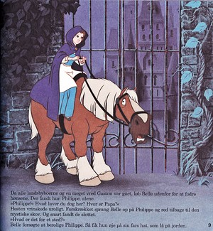 Walt 迪士尼 Book 图片 - Princess Belle & Phillipe
