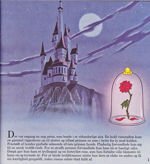 Walt Disney Book imej - Prince Adam's istana, castle & The Rose
