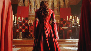 What would red coronation dress look like!