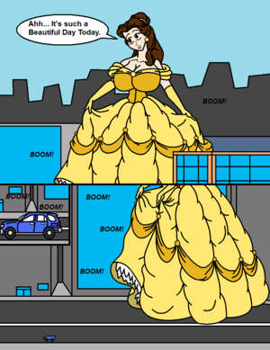 Belle Crushes a Car Page 1