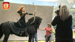 jessica chastain as Merida for disney Dream Portraits