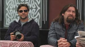 "Russell Crowe and Alan Doyle in ""The Republic of Doyle"""