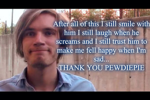 Thank you pewdiepie