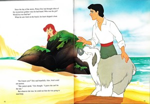 Walt Disney Book Images - Princess Ariel, Max & Prince Eric
