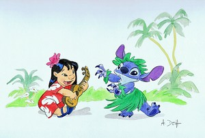 Walt Дисней Sketches - Lilo Pelekai & Stitch