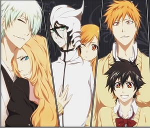 gin and Rangiku, Ulquiorra and Orihime, Ichigo and Tatsuki