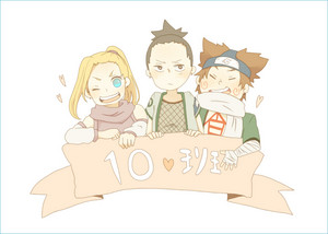 Shikamaru, Ino and Choji