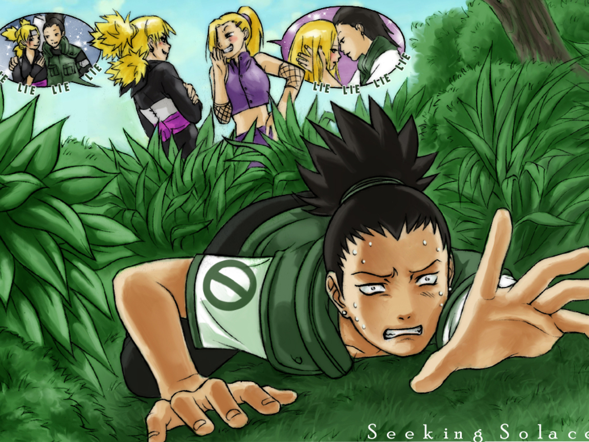 Shikamaru and Temari and Ino