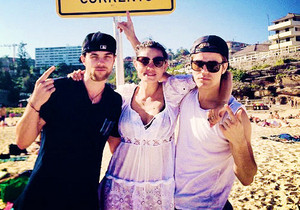Paul Wesley and Phoebe Tonkin in Australia