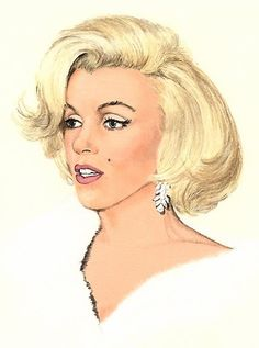marilyn monroe caricature