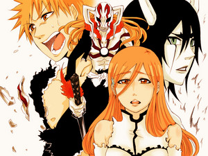 Ulquiorra vs Ichigo and Orihime