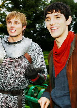 Bradley and Colin on set
