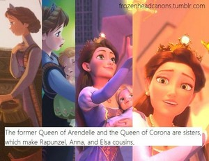 Elsa,Anna and Rapunzel are cousins