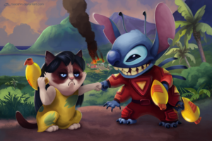 LILO AND STITCH Grumpy Cat