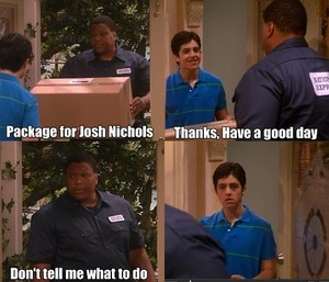 Josh Peck and the delivery man