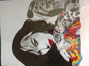 Kat von d drawing i did in 2012