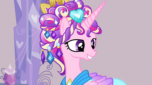 Cadance pleased smile