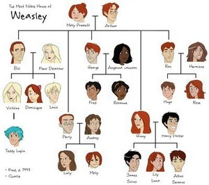 weasley family arbre harry potter