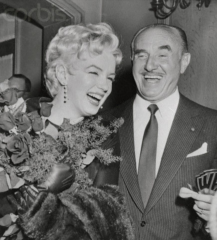 marilyn monroe with Jack Warner